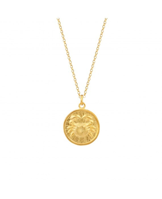 Necklace Cancer in Gold Plated Silver