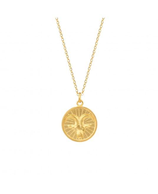 Colar Capricorn em Prata Dourada