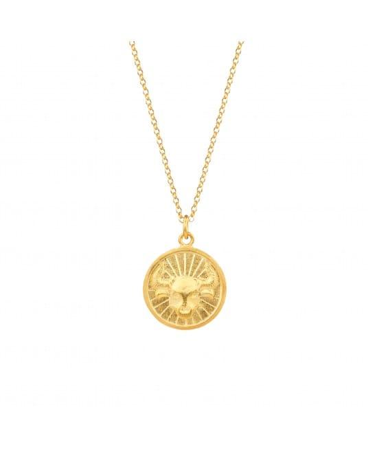 Colar Taurus em Prata Dourada
