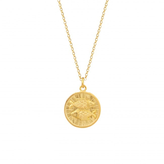 Necklace Pisces in Gold Plated Silver