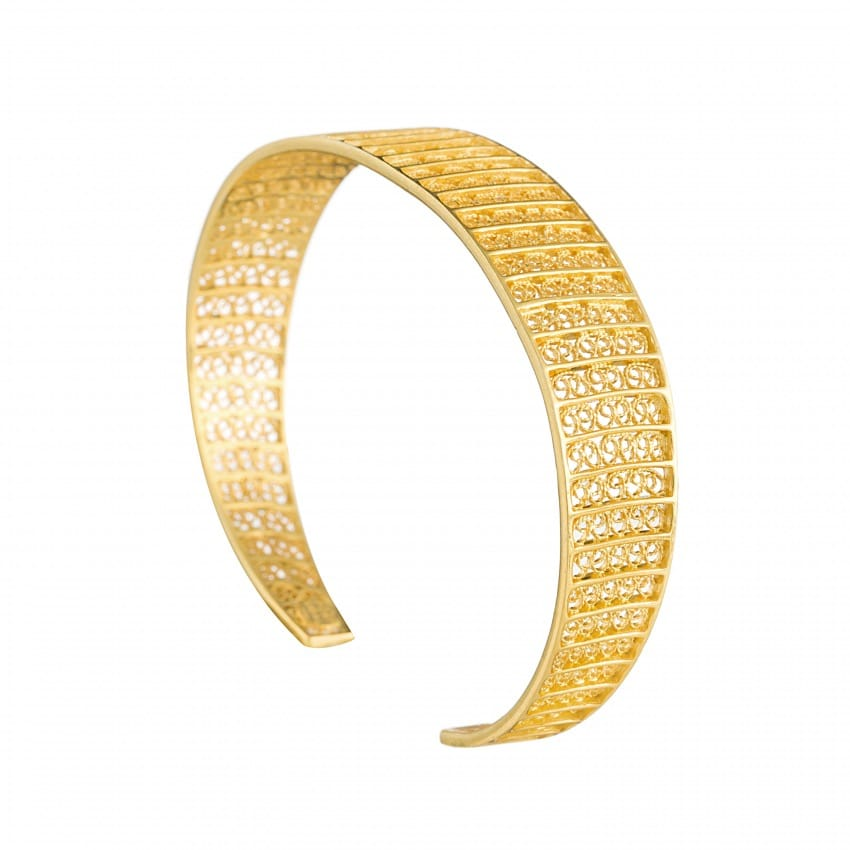 Bracelet Circles in Gold Plated Silver
