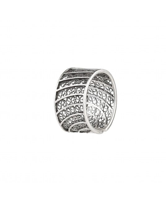 Ring Circles in Filigree 1,5 cm in Silver