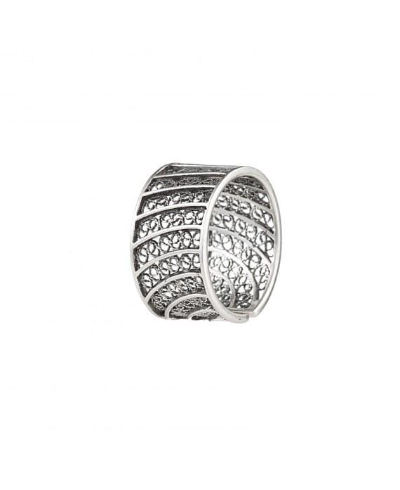 Ring Circles in Filigree 1,5 cm in Silver