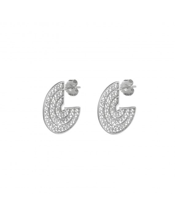 Earrings Circles 2,0 cm in Silver