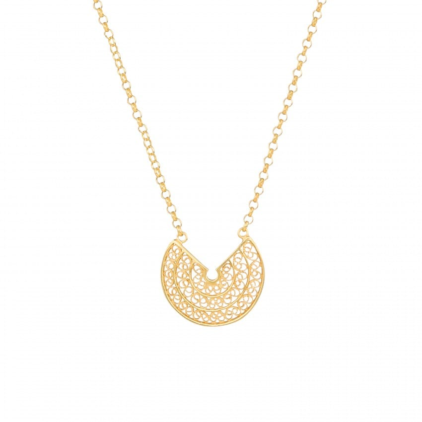 Necklace Circles 2,0 cm in Gold Plated Silver