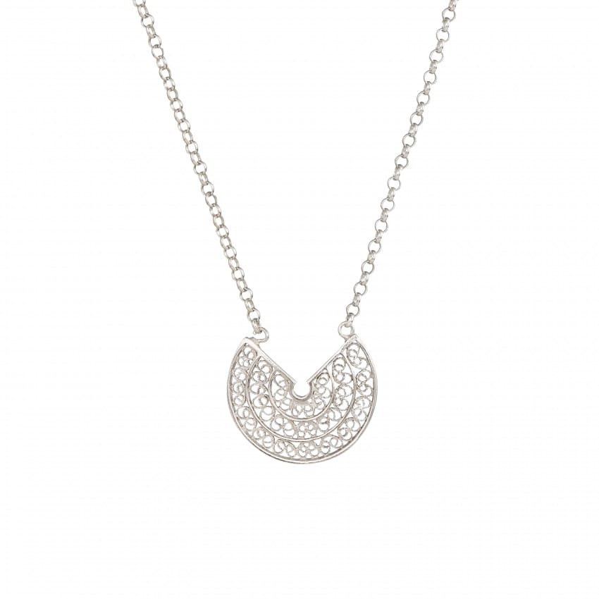 Necklace Circles 2,0 cm in Silver