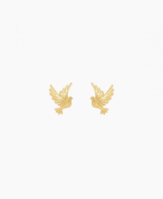 Dove Earrings in Gold Plated Silver