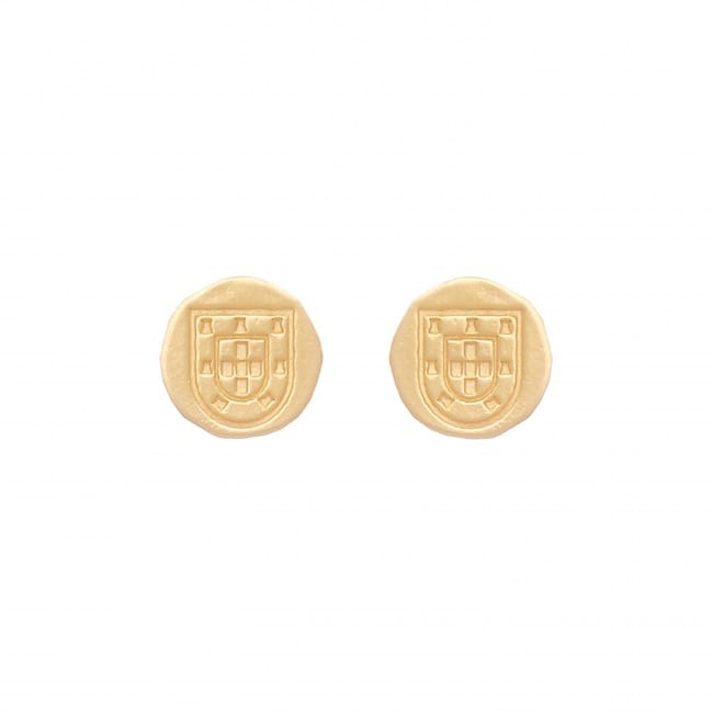 Shield Earrings in Gold Plated Silver