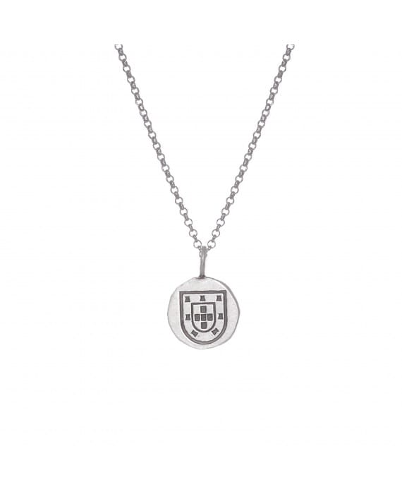 Shield Necklace in Silver