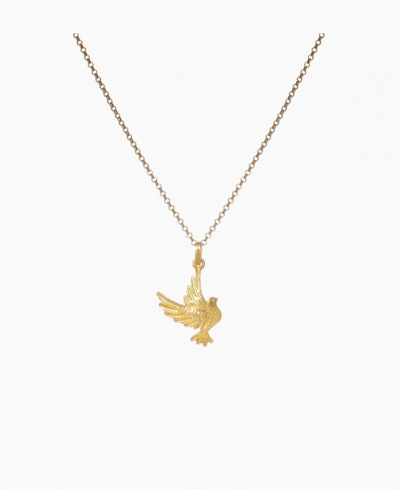 Necklace Dove in Gold Plated Silver