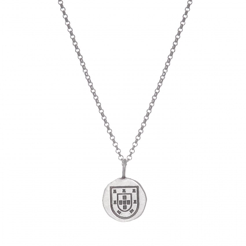 Necklace Escudo Long in Silver