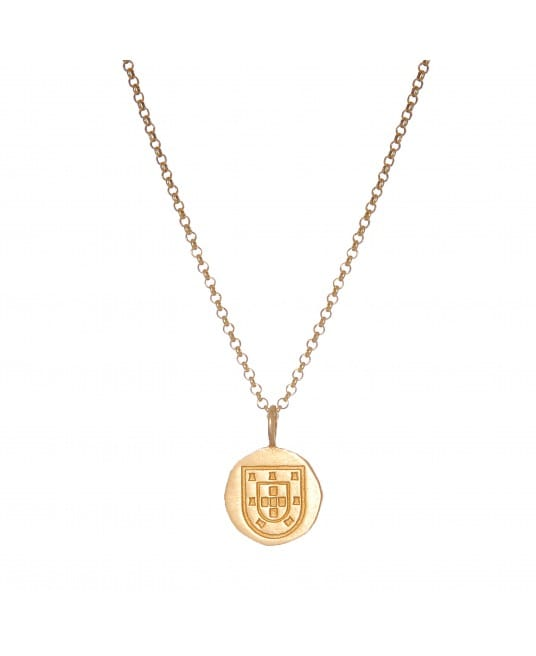 Shield Necklace in Gold Plated Silver