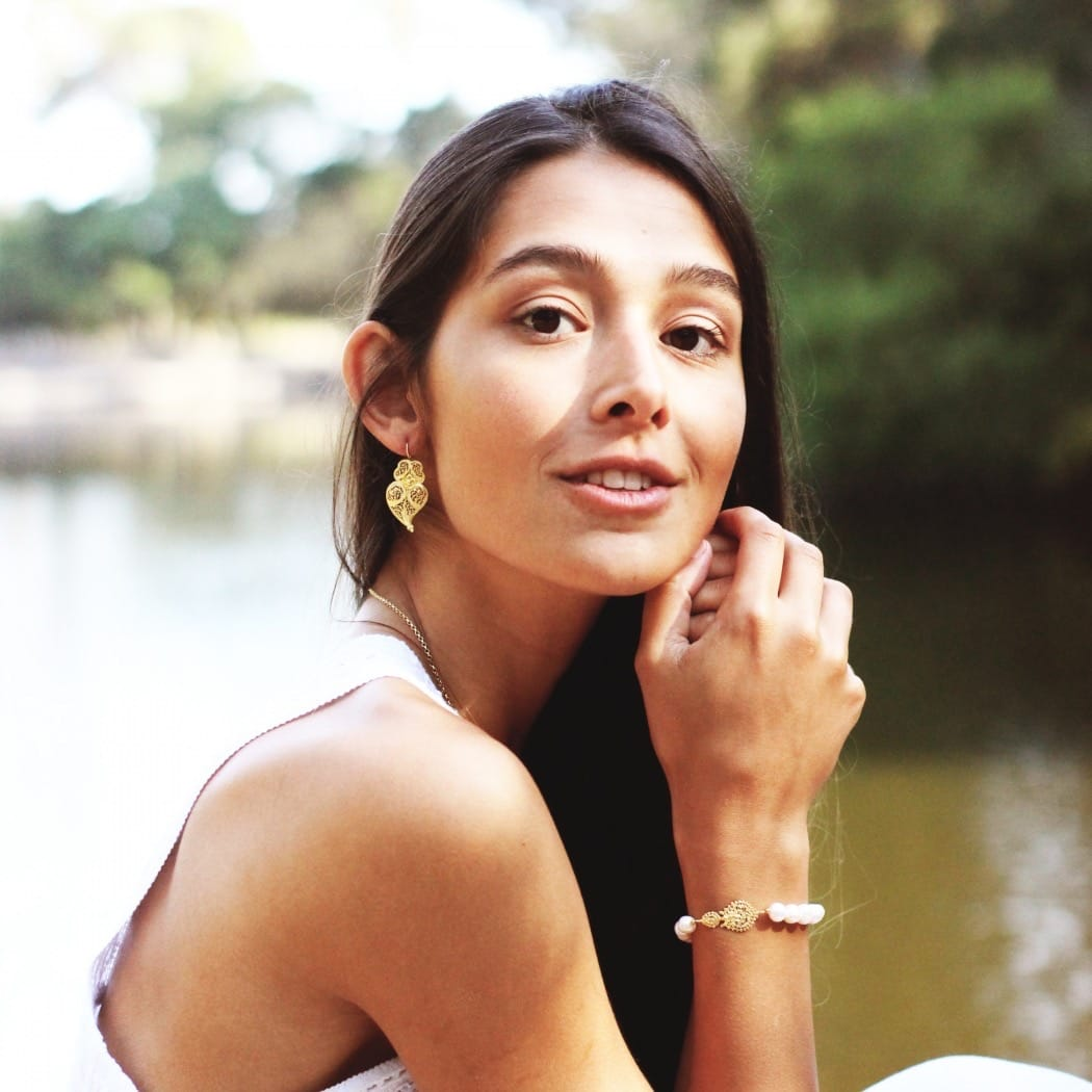 Earrings Heart of Viana 3,5cm in Silver
