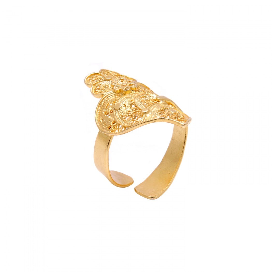 Ring Heart of Viana in Gold Plated Silver
