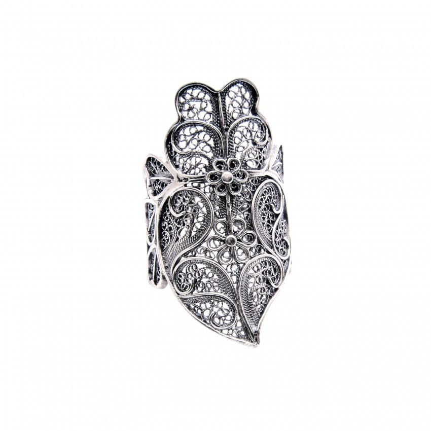 Ring Heart of Viana XL in Silver