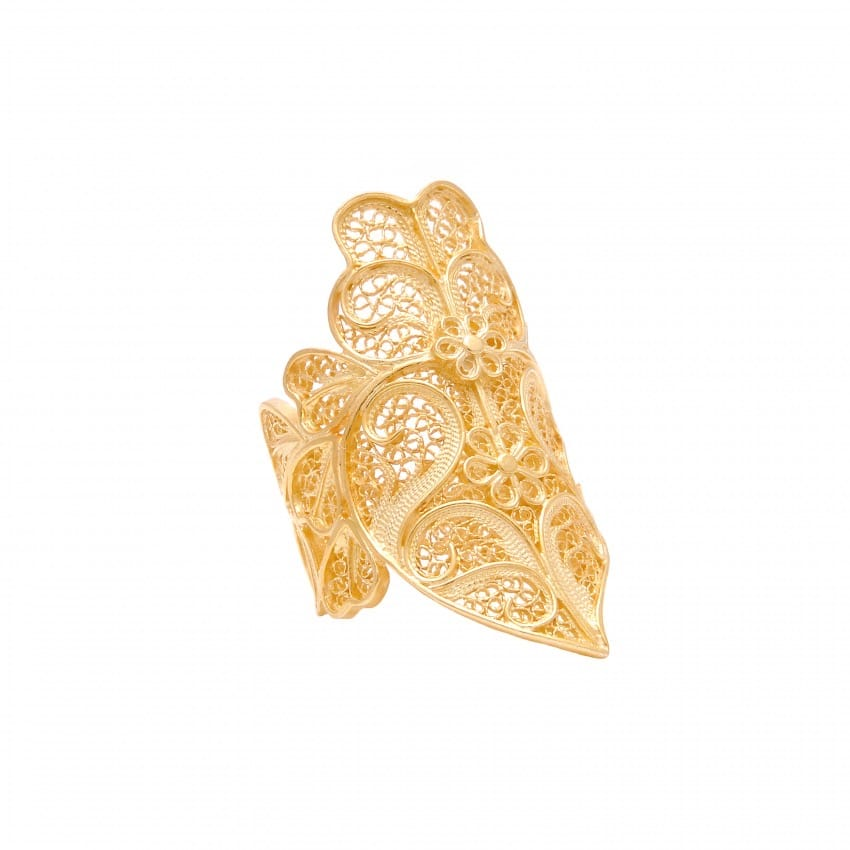 Ring Heart of Viana XL in Gold Plated Silver
