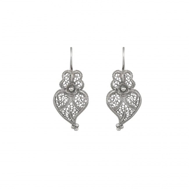 Earrings Heart of Viana 2,5cm in Silver