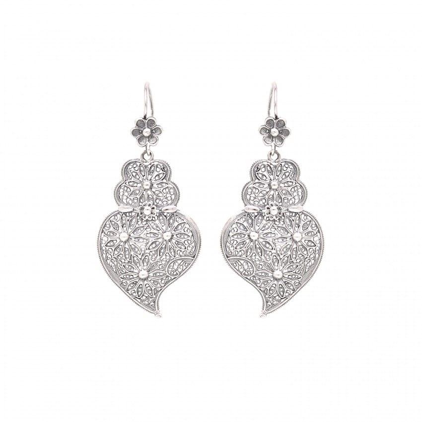 Earrings Heart of Viana Ciclo in Silver