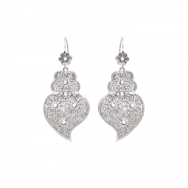 Earrings Heart of Viana Ciclo in Silver
