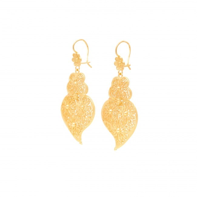 Earrings Heart of Viana Ciclo in Gold Plated Silver