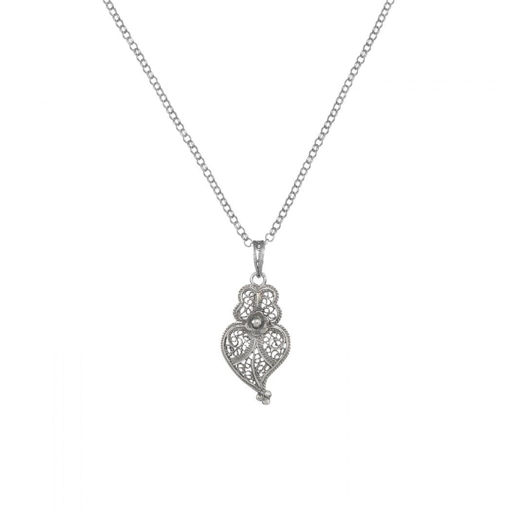 Colar Coração de Viana 2,5cm em Prata