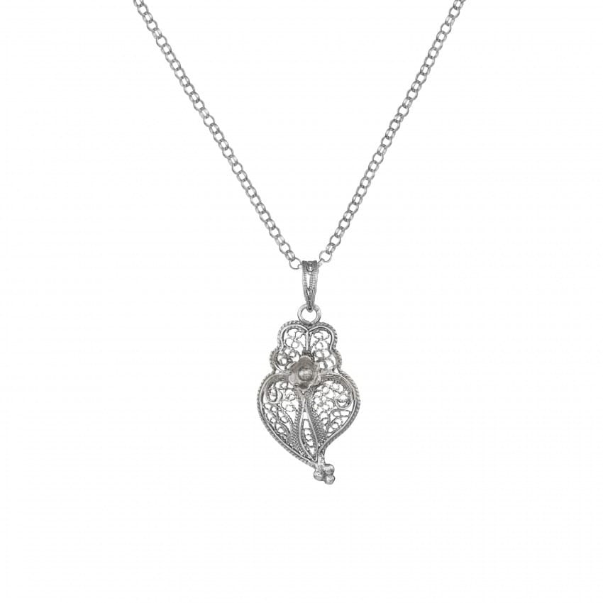 Necklace Heart of Viana 3,0cm in Silver