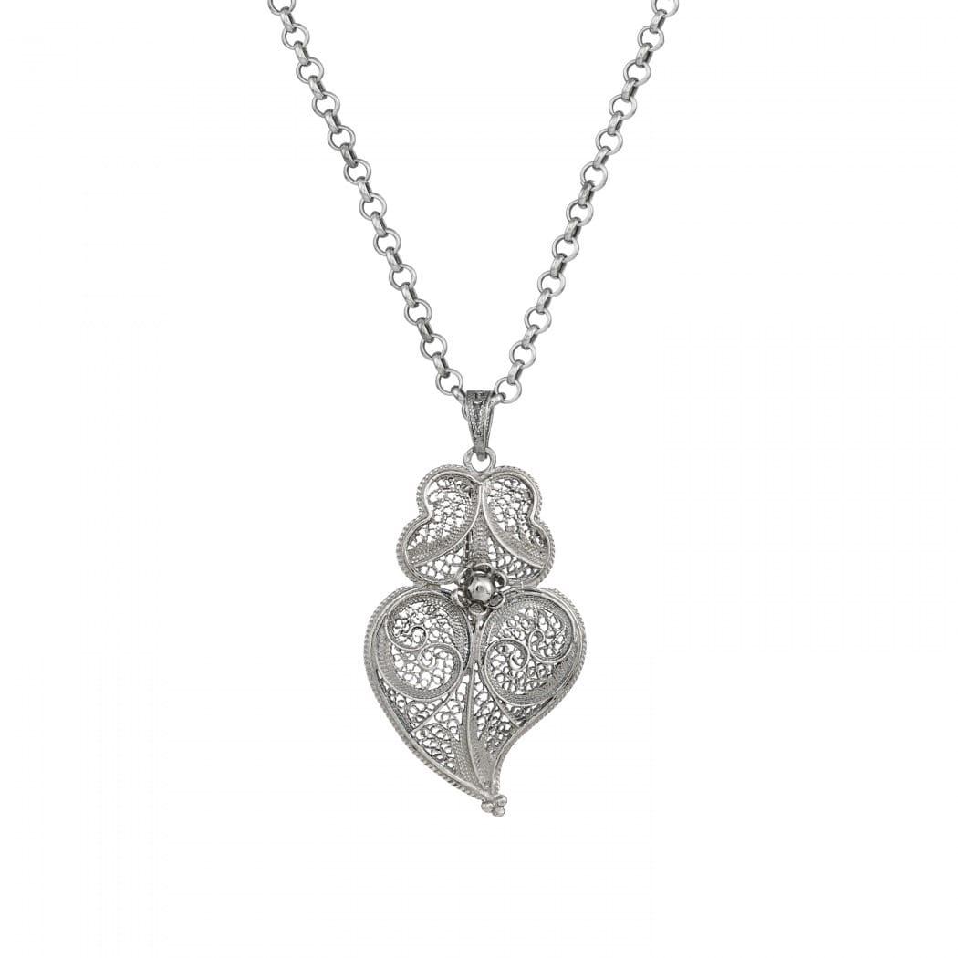 Necklace Heart of Viana 4,5 cm in Silver
