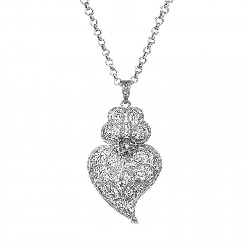 Necklace Heart of Viana 5,5 cm in Silver