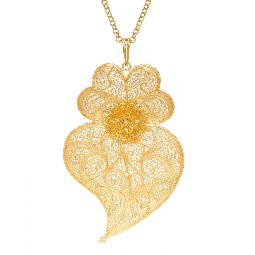 Necklace Heart of Viana XL in Gold Plated Silver