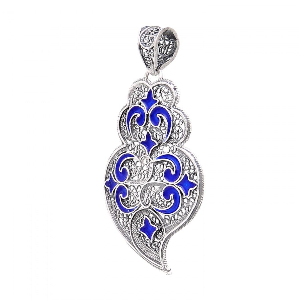 Colar Coração de Viana Azulejo em Prata