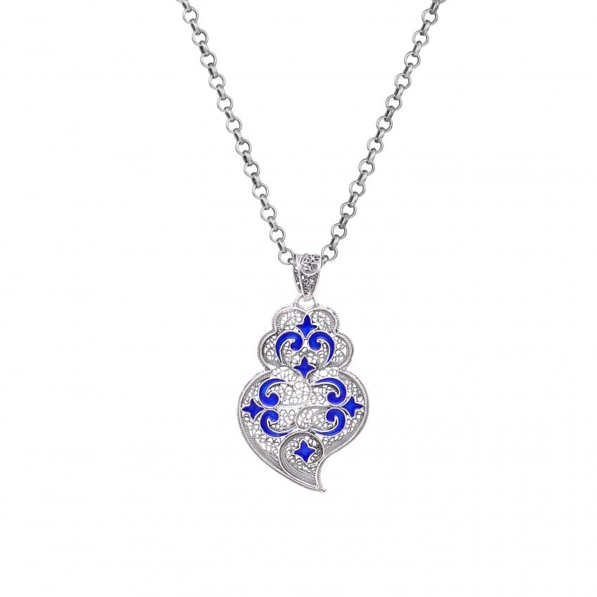 Necklace Heart of Viana Azulejo in Silver