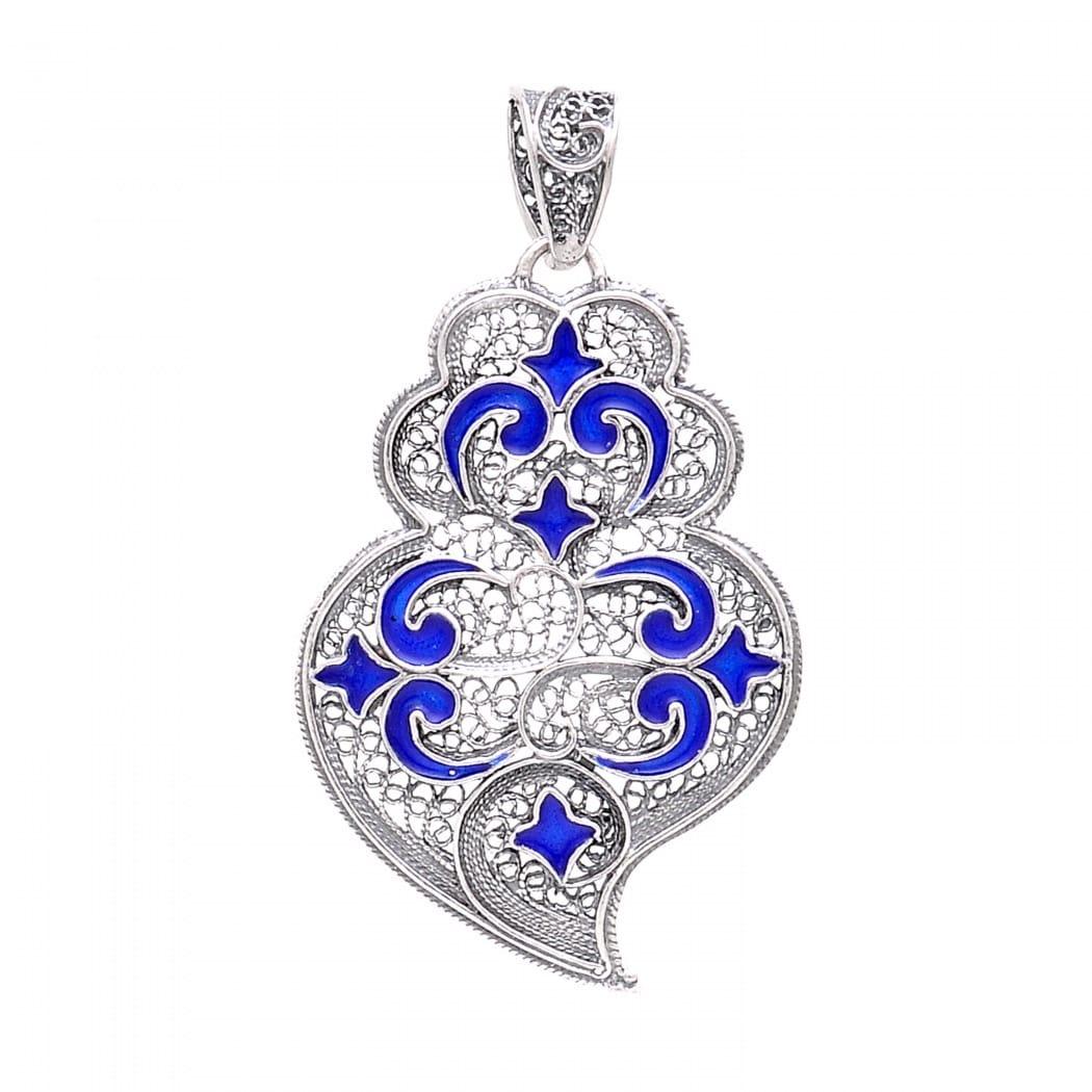 Necklace Heart of Viana Azulejo in Silver