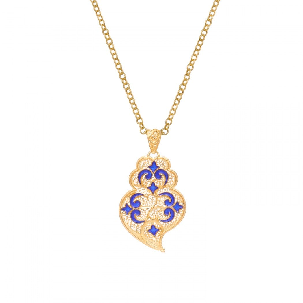 Necklace Heart of Viana Azulejo in Gold Plated Silver