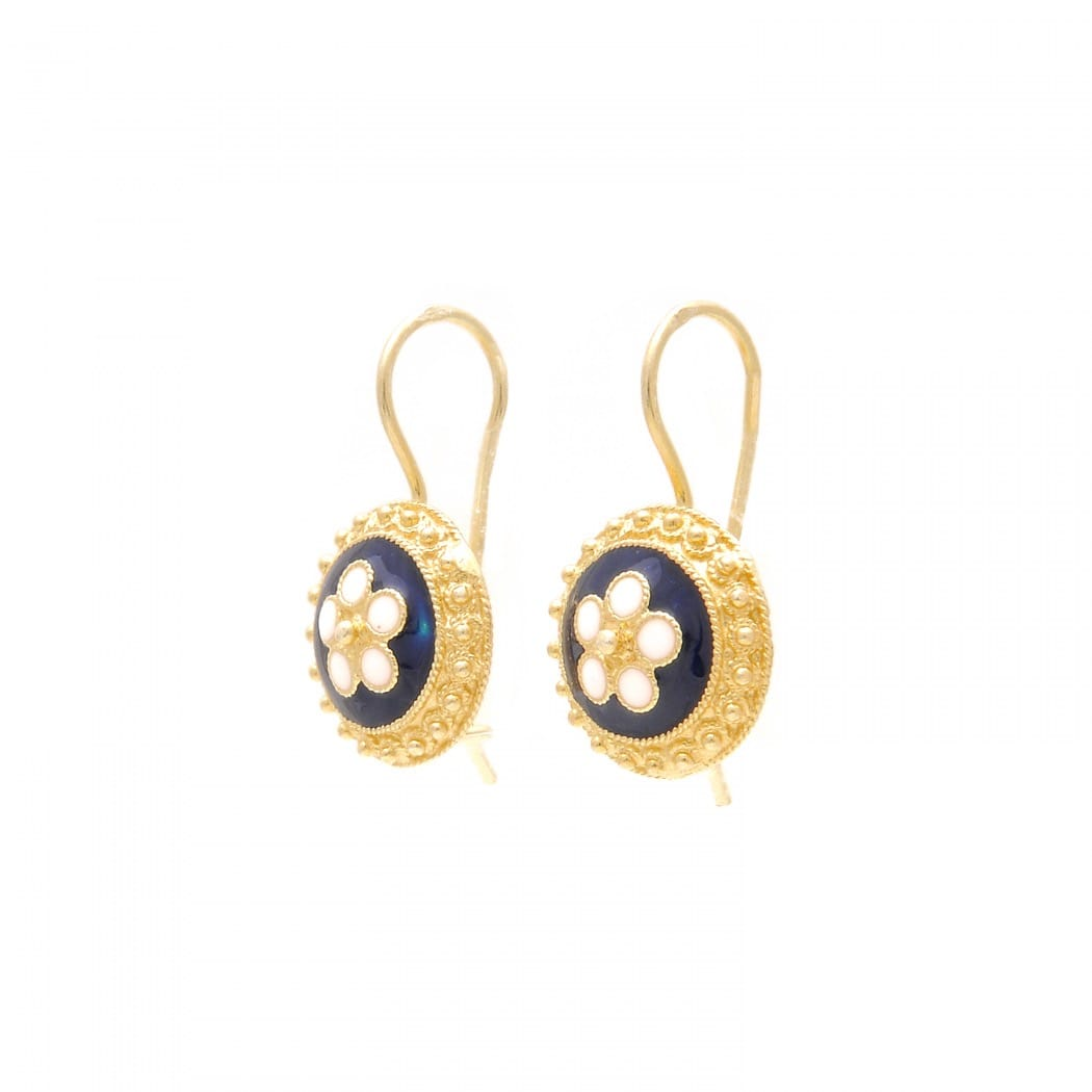 Earrings Caramujo in Gold Plated Silver
