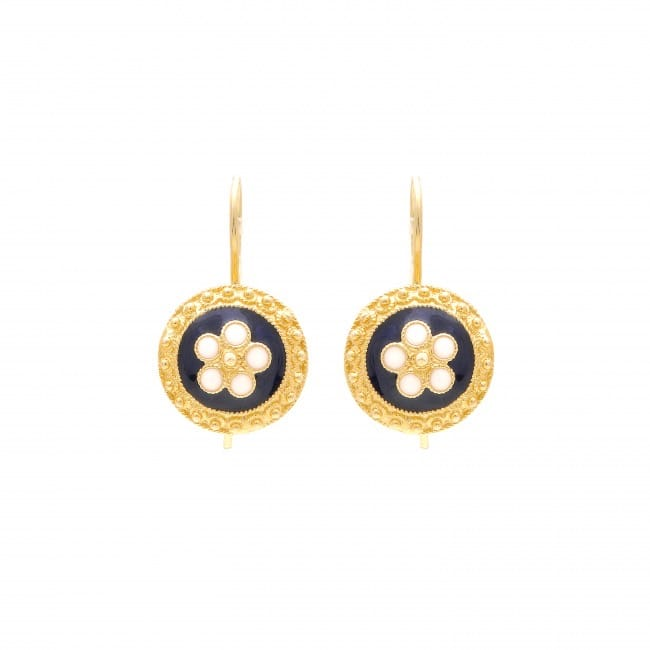 Earrings Caramujo in Gold Plated Silver