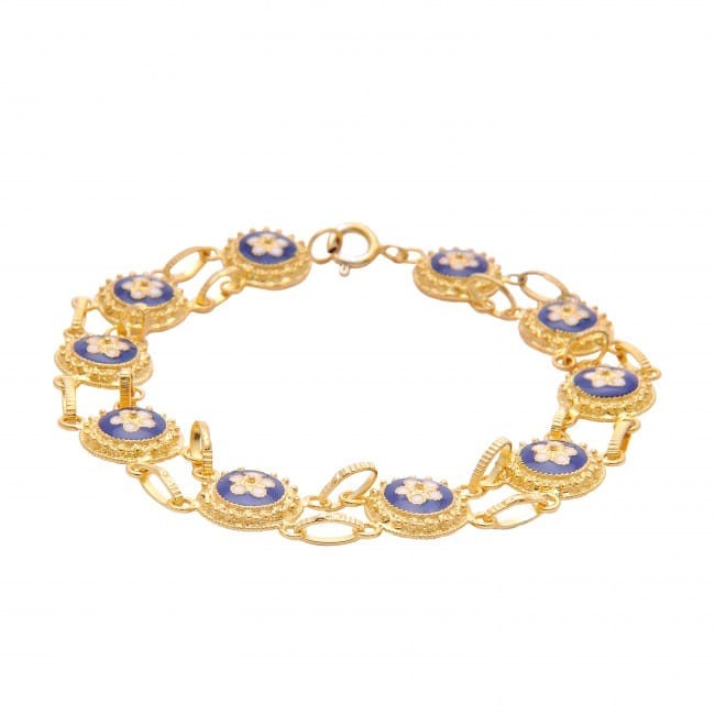Bracelet Caramujos in Gold Plated Silver