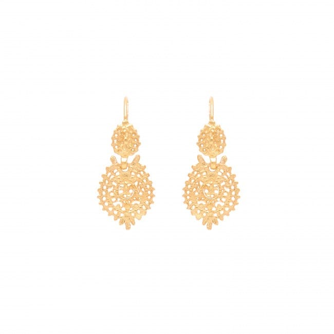 Queen Earrings 2,5cm in Gold Plated Silver