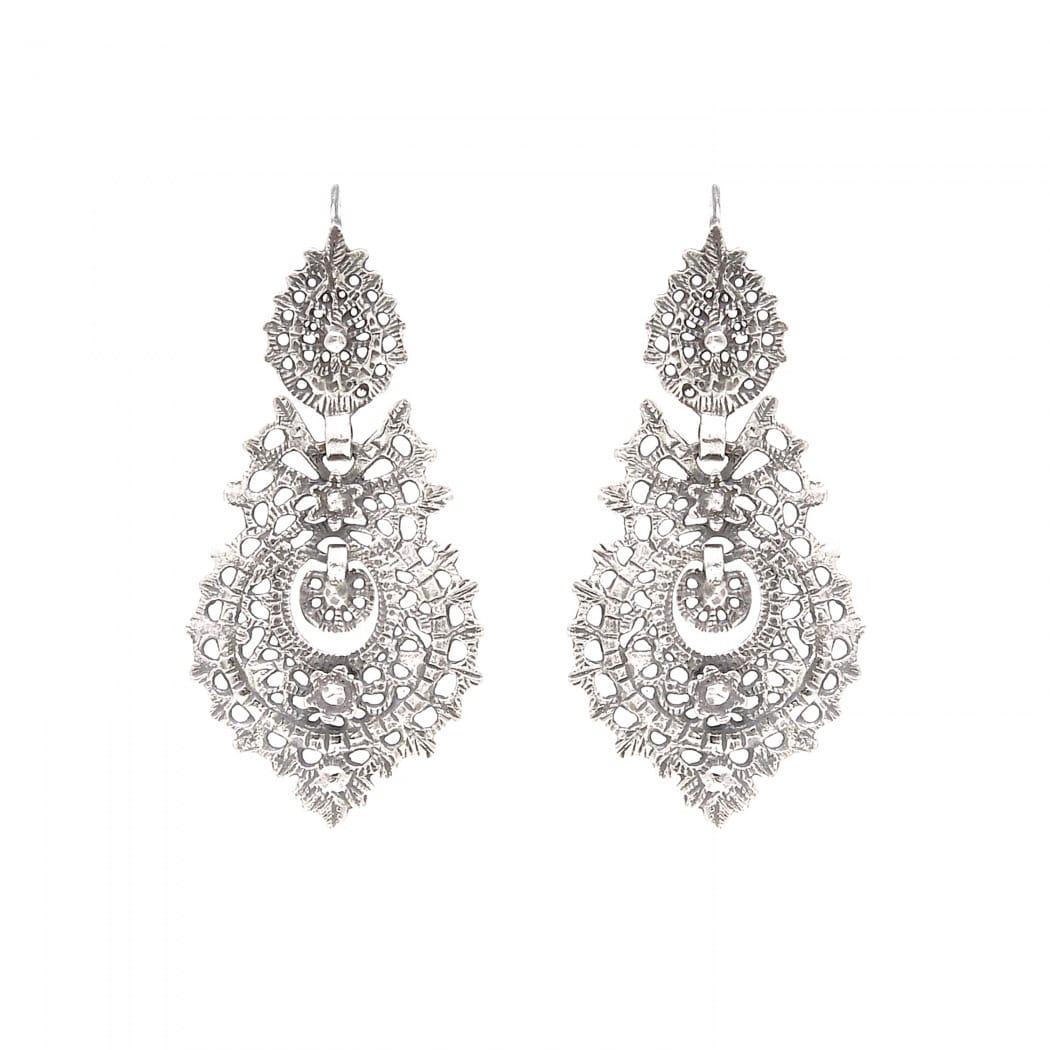 Queen Earrings 5,5cm in Silver