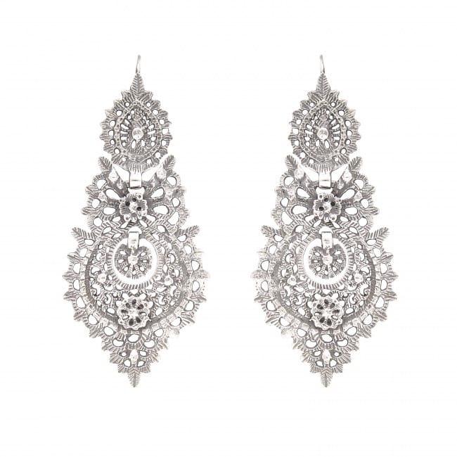 Queen Earrings 6,5cm in Silver