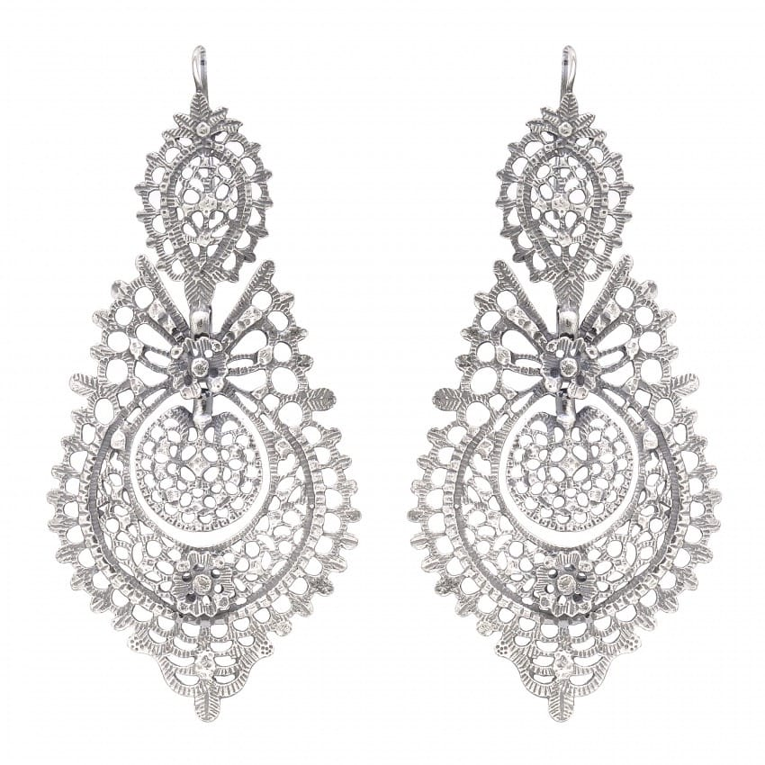 Queen Earrings 8,5cm in Silver