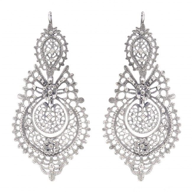 Queen Earrings 8,5cm in Silver