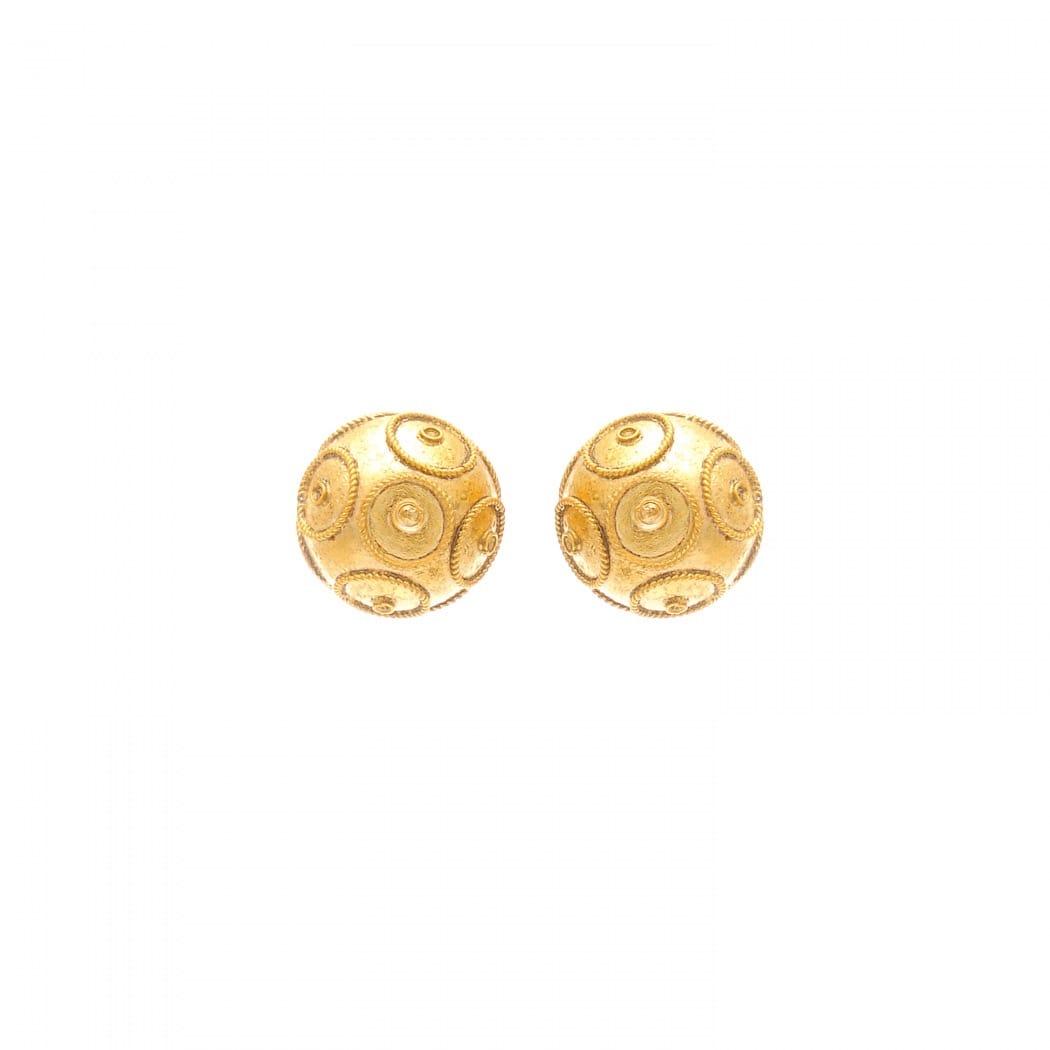 Earrings Viana's Conta 8mm in 9Kt Gold