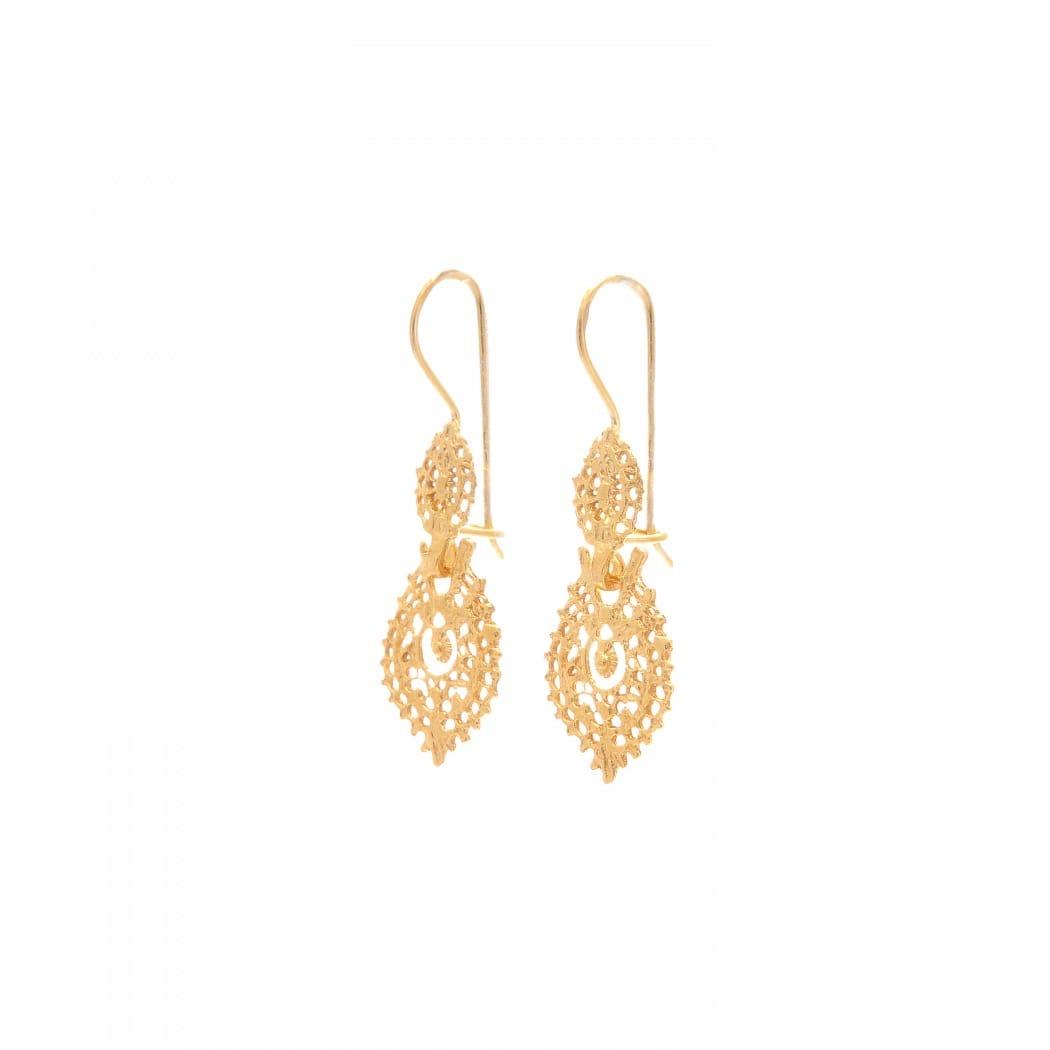 Queen Earrings XS in 9Kt Gold