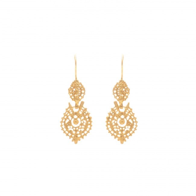 Queen Earrings XS in 9Kt Gold
