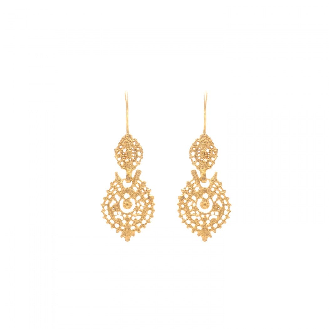 Queen Earrings in 9Kt Gold