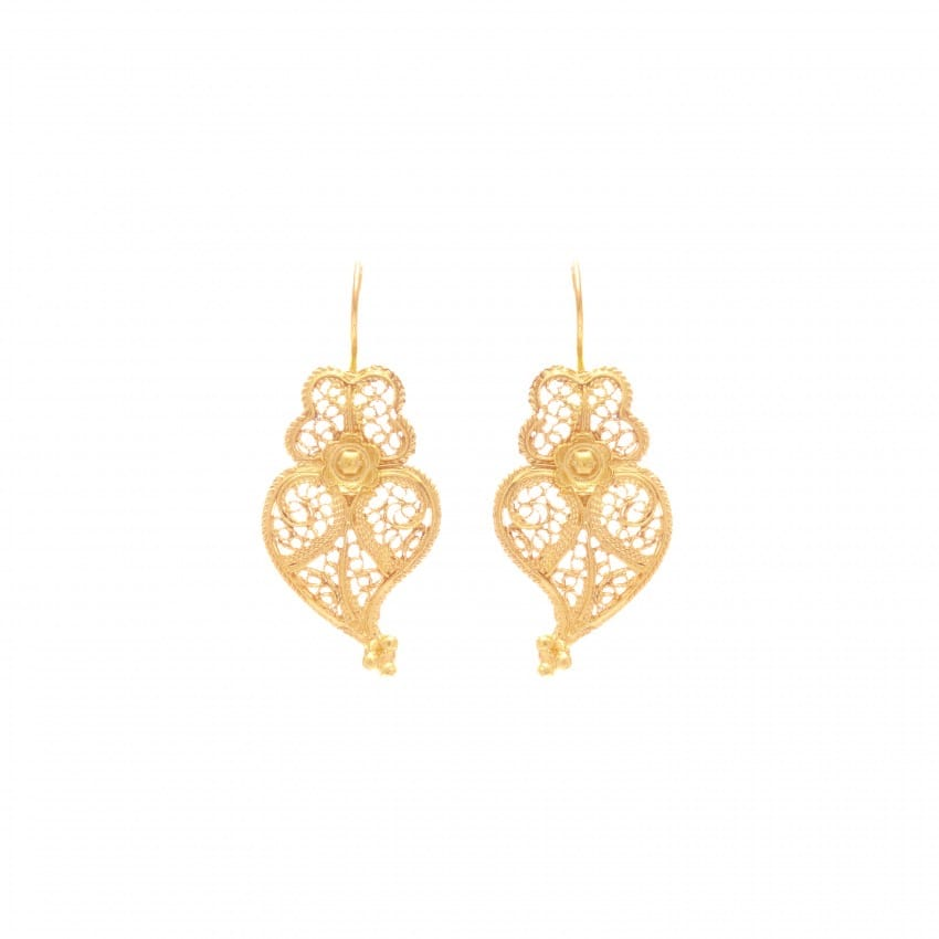 Earrings Heart Viana in 9Kt Gold