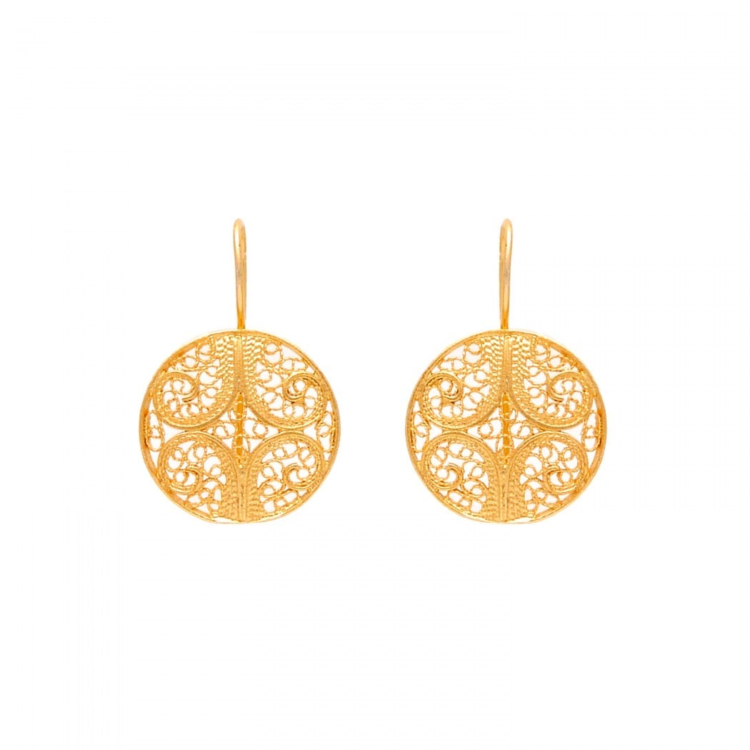Earrings Circles in 9Kt Gold