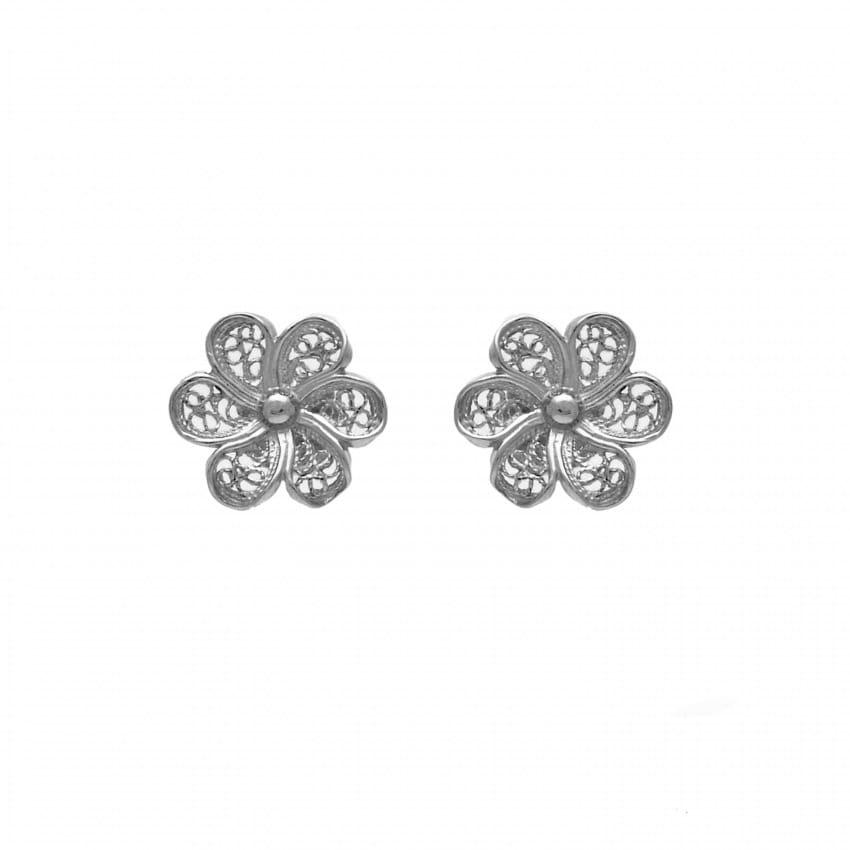 Earrings Flower in Silver