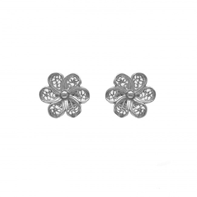 Earrings Flower in Silver