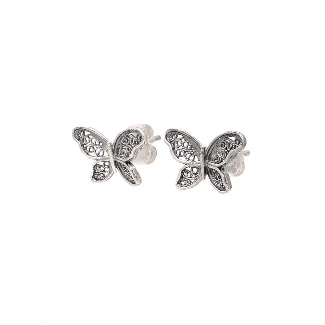 Earrings Butterfly in Silver